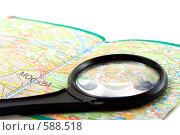 Купить «Маленькая лупа на автомобильной карте Московской области», фото № 588518, снято 6 октября 2007 г. (c) Ольга Красавина / Фотобанк Лори