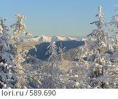 Купить «Зима в горах», фото № 589690, снято 15 ноября 2005 г. (c) Сергей Фролов / Фотобанк Лори