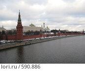 Фото Москвы. Кремлевская набережная (2008 год). Стоковое фото, фотограф Николаенкова Светлана / Фотобанк Лори