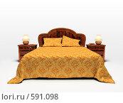 Современная кровать, иллюстрация № 591098 (c) Hemul / Фотобанк Лори