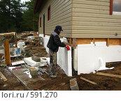 Купить «Строительный рабочий», фото № 591270, снято 13 ноября 2008 г. (c) Алла Виноградова / Фотобанк Лори