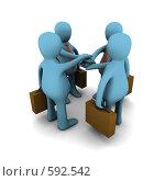 Купить «Сотрудничество в бизнесе, концепция», иллюстрация № 592542 (c) Владислав Пугачев / Фотобанк Лори