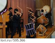 Купить «Японские барабанщики тайко», фото № 595366, снято 25 ноября 2008 г. (c) Алексей Еманов / Фотобанк Лори