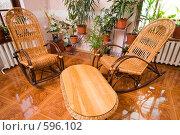 Купить «Интерьер гостиной в коттедже», фото № 596102, снято 30 ноября 2008 г. (c) Федор Королевский / Фотобанк Лори