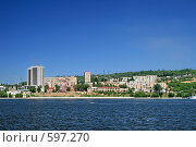 Купить «Саратов вид с Волги», фото № 597270, снято 3 июня 2007 г. (c) Игорь Романов / Фотобанк Лори