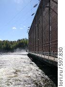 Купить «Лесогорская ГЭС (Ленинградская область)», фото № 597830, снято 17 мая 2007 г. (c) Александр Секретарев / Фотобанк Лори