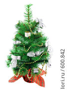 Купить «Украшенная новогодняя елочка», фото № 600842, снято 4 декабря 2008 г. (c) Ольга Красавина / Фотобанк Лори