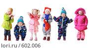 Купить «Дети в зимней одежде», фото № 602006, снято 18 марта 2019 г. (c) Майя Крученкова / Фотобанк Лори