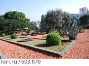 Купить «Парк около Бахайского храма в Хайфе», фото № 603070, снято 28 ноября 2008 г. (c) Zlataya / Фотобанк Лори