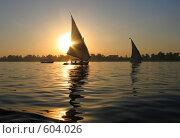 Закат на реке Нил. Африка, фото № 604026, снято 6 марта 2005 г. (c) Юлия Селезнева / Фотобанк Лори