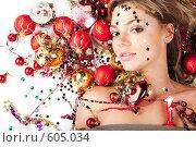 Новогодняя Девушка. Стоковое фото, фотограф pshek / Фотобанк Лори