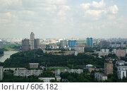 Москва с высоты (2008 год). Стоковое фото, фотограф Дмитрий Тарасов / Фотобанк Лори