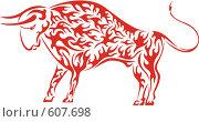 Год огненного быка по китайскому календарю. Стоковая иллюстрация, иллюстратор крижевская юлия валерьевна / Фотобанк Лори