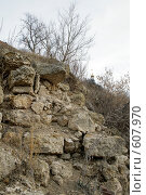 Фрагмент стены монастыря. Стоковое фото, фотограф Иван Маршинин / Фотобанк Лори