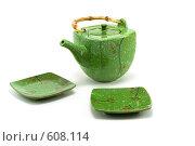 Купить «Чайник и два блюдца», фото № 608114, снято 28 ноября 2008 г. (c) Руслан Кудрин / Фотобанк Лори