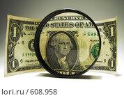 Увеличенный портрет Джорджа Вашингтона в долларе. Стоковое фото, фотограф Олег Бабенко / Фотобанк Лори