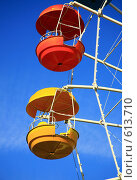 Колесо обозрения - фрагмент. Стоковое фото, фотограф Володина Светлана / Фотобанк Лори