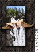 Кантеле. Водопад Кивач. Карелия. Редакционное фото, фотограф Дмитрий Хрусталев / Фотобанк Лори