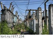 Купить «Трансформаторная подстанция Северной ТЭЦ-21. Санкт-Петербург», фото № 617234, снято 21 мая 2007 г. (c) Александр Секретарев / Фотобанк Лори