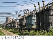 Купить «Трансформаторная подстанция Северной ТЭЦ-21. Санкт-Петербург», фото № 617246, снято 21 мая 2007 г. (c) Александр Секретарев / Фотобанк Лори