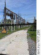 Купить «Трансформаторная подстанция Северной ТЭЦ-21. Санкт-Петербург», фото № 617290, снято 21 мая 2007 г. (c) Александр Секретарев / Фотобанк Лори