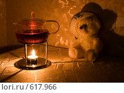 Купить «Чаепитие. Стеклянный чайник. Плюшевый медвежонок», фото № 617966, снято 16 декабря 2008 г. (c) Малютин Павел / Фотобанк Лори