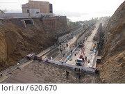 Купить «Строительство туннеля», фото № 620670, снято 17 октября 2008 г. (c) Леонид Селивёрстов / Фотобанк Лори