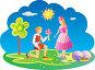 Мальчик дарит цветы девочке, иллюстрация № 621310 (c) Куликова Татьяна / Фотобанк Лори