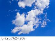 Купить «Голубое небо и белые облака», фото № 624206, снято 28 июня 2008 г. (c) Вячеслав Рящиков / Фотобанк Лори