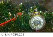 Часы. Старинная новогодняя игрушка, начало XX века. Стоковое фото, фотограф Чернышева Лариса / Фотобанк Лори