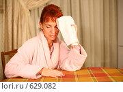 Купить «Женщина, страдающая головной болью», фото № 629082, снято 16 сентября 2008 г. (c) Vdovina Elena / Фотобанк Лори