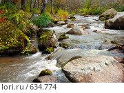 Небольшая горная речка. Стоковое фото, фотограф Юрий Бульший / Фотобанк Лори