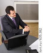 Успешный бизнесмен в офисе. Стоковое фото, фотограф Вячеслав Дусалеев / Фотобанк Лори
