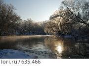 Купить «Мороз и солнце над рекой», фото № 635466, снято 27 декабря 2008 г. (c) Петров Алексей / Фотобанк Лори