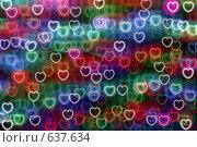 Купить «Размытый фон из разноцветных сердечек», фото № 637634, снято 18 сентября 2008 г. (c) Владимир Сергеев / Фотобанк Лори