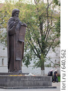 Купить «Идете с миром... Памятник Преподобному Сергию Радонежскому», фото № 640562, снято 6 сентября 2008 г. (c) Крупнов Денис / Фотобанк Лори