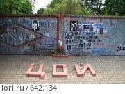 Купить «Стена Цоя в Минске», фото № 642134, снято 21 июня 2008 г. (c) АЛЕКСАНДР МИХЕИЧЕВ / Фотобанк Лори