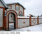 Купить «Коттедж», фото № 643266, снято 29 декабря 2008 г. (c) Татьяна Лепилова / Фотобанк Лори