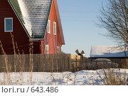 Купить «Загородный дом, ветряная мельница», фото № 643486, снято 1 января 2009 г. (c) Медведева Мила / Фотобанк Лори