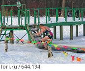 Купить «Зимнее купание в проруби», эксклюзивное фото № 644194, снято 6 января 2009 г. (c) lana1501 / Фотобанк Лори