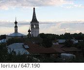 Вечерний Суздаль (2007 год). Стоковое фото, фотограф Алексей Падерин / Фотобанк Лори