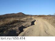 Купить «Дорога, уходящая за горизонт», фото № 650414, снято 4 января 2009 г. (c) Вальченко Любовь / Фотобанк Лори