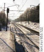Купить «Железная дорога. Московская область», фото № 653122, снято 4 января 2009 г. (c) Юлия Дашкова / Фотобанк Лори