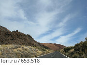 Купить «Дорога на вулкан Тейде. Тенерифе, Канары.», фото № 653518, снято 9 января 2009 г. (c) Наталья Белотелова / Фотобанк Лори