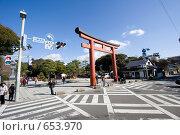 Купить «Перекресток у синтоистского храма  Цуругаока Хачимангу», фото № 653970, снято 17 декабря 2008 г. (c) Игорь Киселёв / Фотобанк Лори