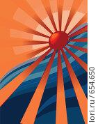 Купить «Морской пейзаж, вектор», иллюстрация № 654650 (c) Смирнова Ирина / Фотобанк Лори