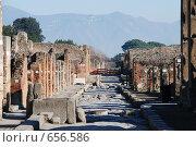 Купить «Разрушенный город Помпеи, Италия», фото № 656586, снято 6 января 2009 г. (c) Криволап Ольга / Фотобанк Лори