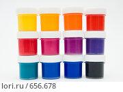 Купить «Краски в три ряда», фото № 656678, снято 6 января 2009 г. (c) Ирина Доронина / Фотобанк Лори