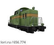 Купить «Зеленый поезд. Изолировано», иллюстрация № 656774 (c) ИЛ / Фотобанк Лори