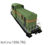 Купить «Зеленый поезд. Изолировано», иллюстрация № 656782 (c) ИЛ / Фотобанк Лори
